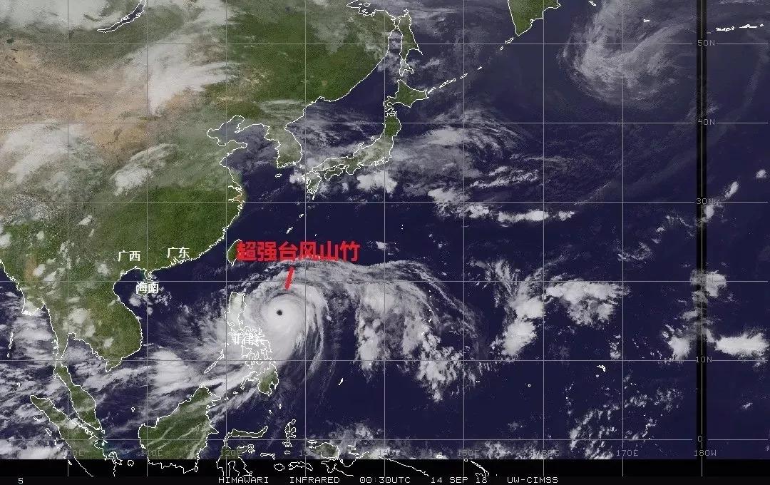 超强台风 山竹 来袭直径超广东省风眼比香港大 凤凰资讯