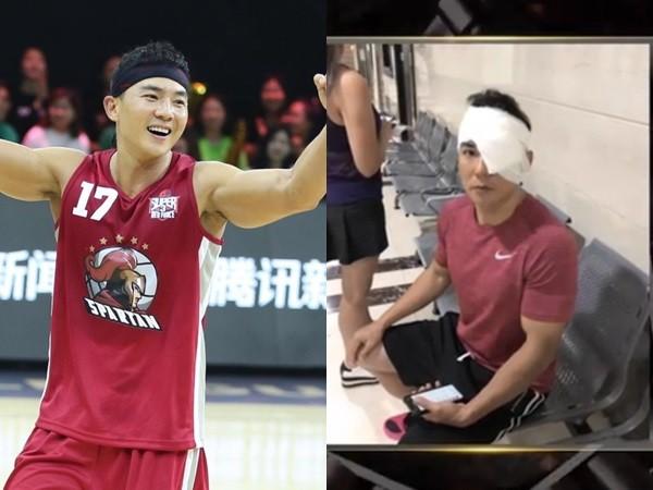 刘�u宏打篮球被误伤左眼 报平安:一礼拜没流汗了