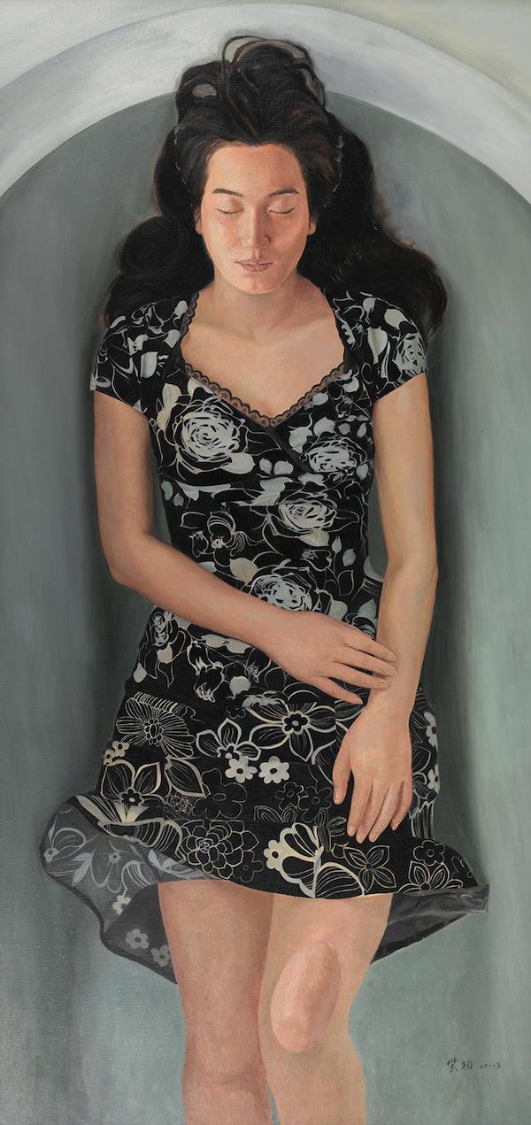 林笑初,《漂浮的想像》布面油画,180cmx86cm,2013年图片
