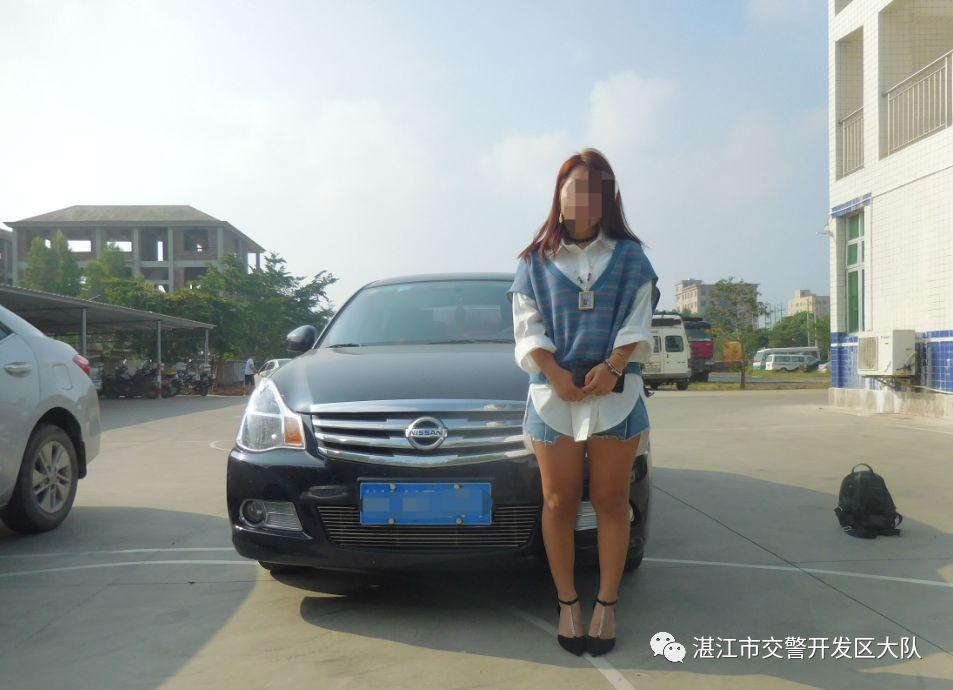 """""""广西小可爱""""网红女主播无证驾驶 向交警撒娇:你舍得拘我?(图)"""