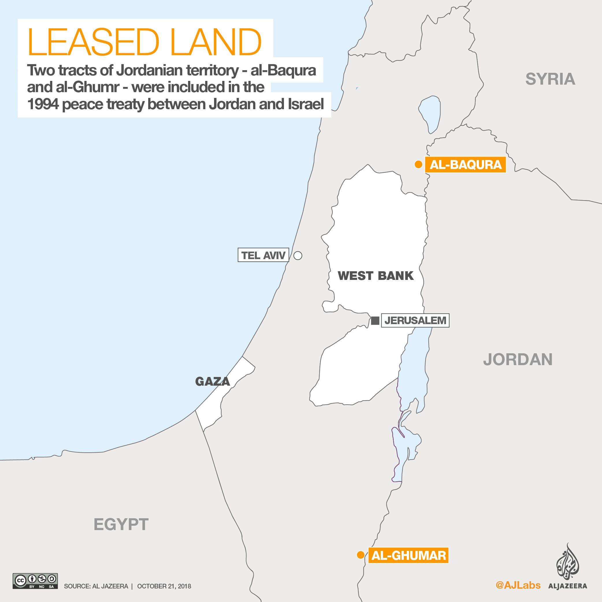 """约旦要收回24年前""""借""""给以色列的地 以总理回应"""
