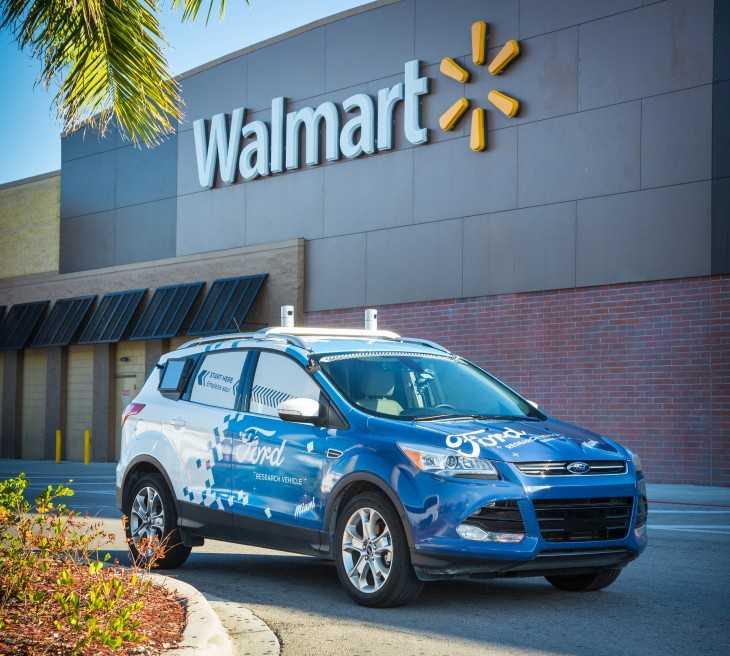 福特与沃尔玛合作 开展自动驾驶汽车送包裹试验