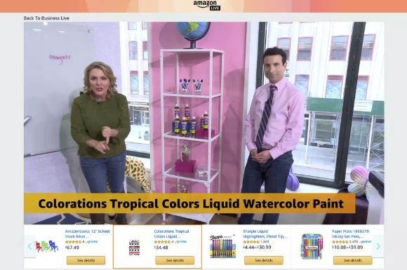师法传统零售商 亚马逊开通视频直播购物频道
