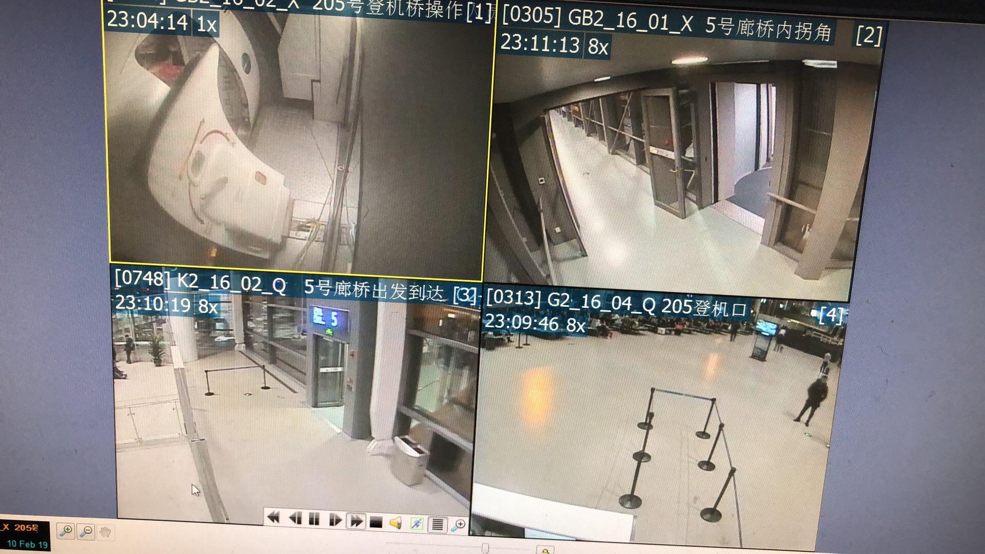 【视频】马航机长摔跤航班取消,南京边检办理整机退关