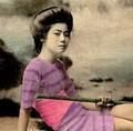 旧时日本艺伎泳装照