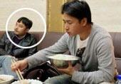 欧弟用大碗吃饭,汪涵表情亮了