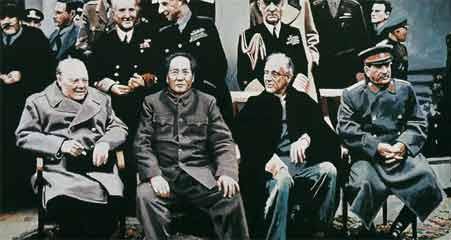 """中国画家创作的毛泽东""""穿越画"""""""