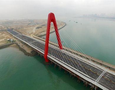 5月27日,福建漳州双鱼岛大桥建成通车,将离岸式人工岛与大陆相连