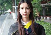 中国第一校花晒毕业照好清纯
