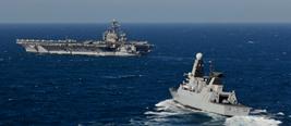 美双航母战斗群赴南海 中国或用东风21D反制