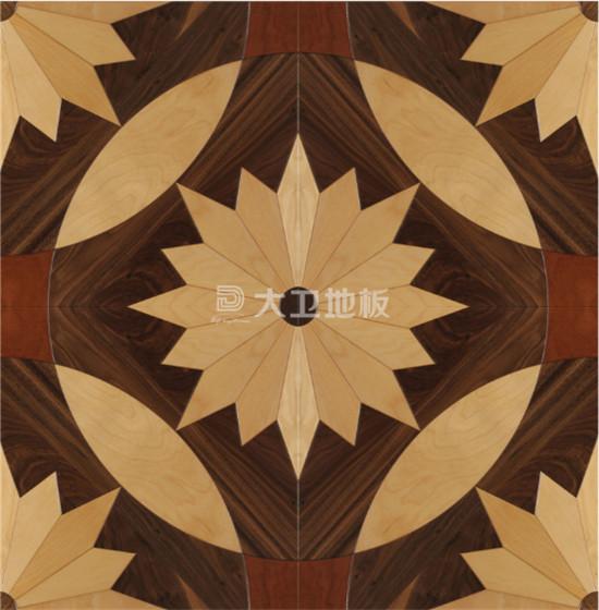 这款弧形拼花地板将木材切分为更加精细的形状
