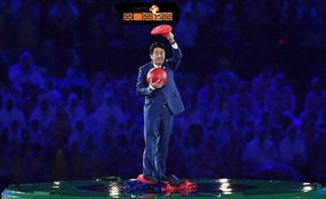 奥运8分钟:日本首相安培晋三变身马里奥出场