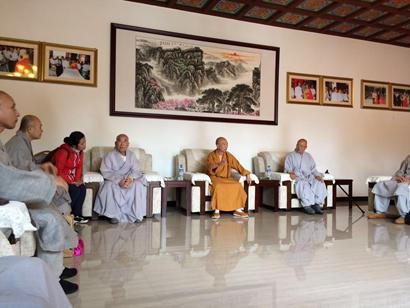韩国佛教代表团参访云南昆明华亭禅寺