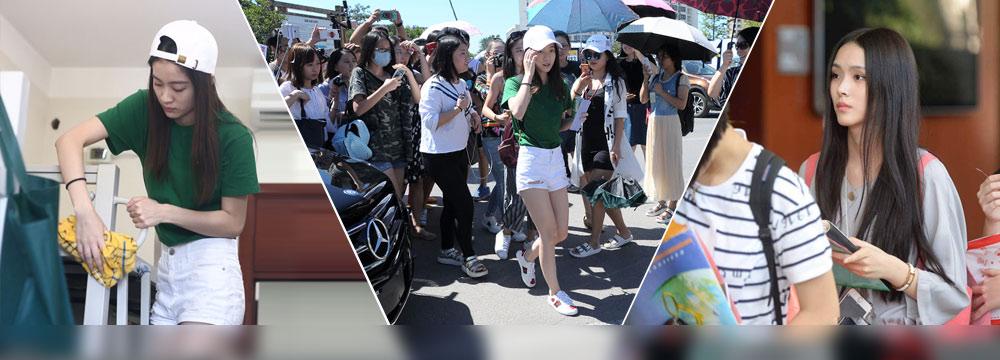 """中戏新生报到:校园美女云集 """"小郭襄""""张雪迎整理宿舍"""