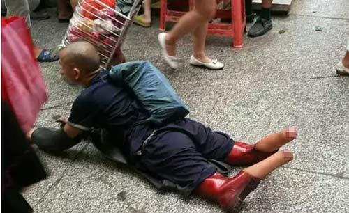 男子失踪12年 双脚被砍广州乞讨