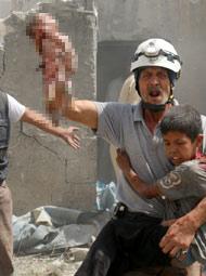 桶炸弹爆炸致15死现场