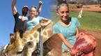 12岁少女晒猎杀长颈鹿挖心脏照 收死亡威胁