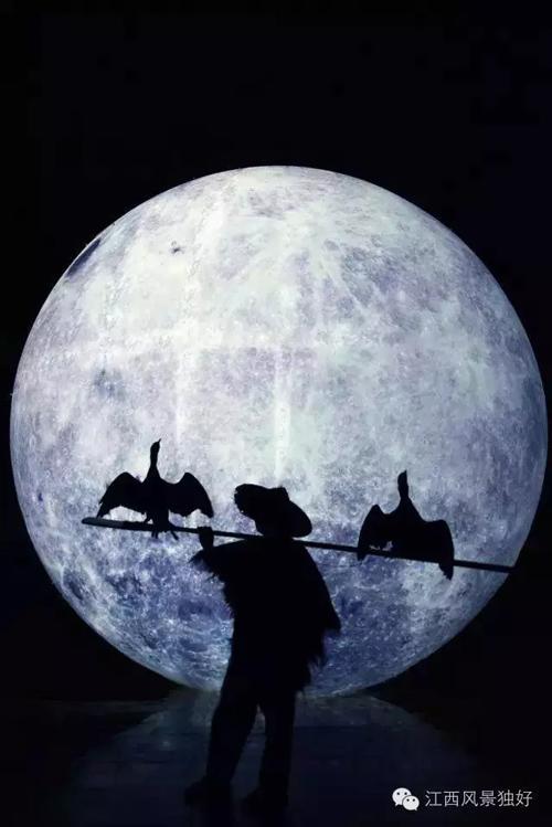 微信头像月亮下的背影