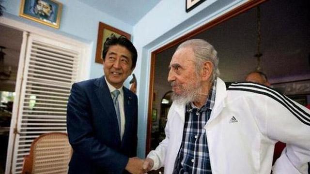 安倍会见卡斯特罗:请古巴劝劝朝鲜别干这3件事