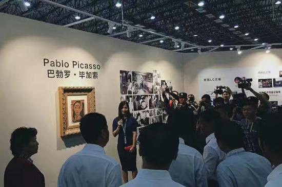 艺博会参展作品涵盖书画、陶瓷、等多个艺术门类