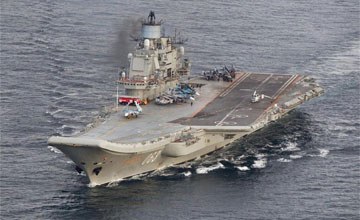 暮气沉沉:俄唯一航母过挪威海 核动力巡洋舰护航
