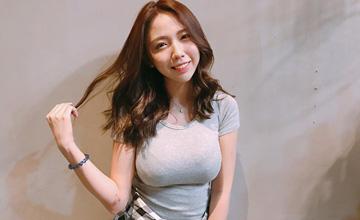 台湾美女网络走红 网友称看到她呼吸都重了