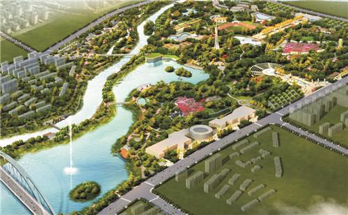 潏河湿地公园鸟瞰图