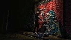 小鲜肉把城市当画布,这才是涂鸦!你那只能叫瞎画
