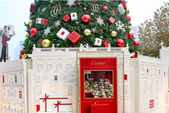 提前感受圣诞气息 范冰冰身上的珠宝闪过圣诞树