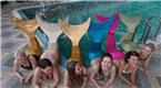 莫斯科开设美人鱼培训学校 水中展示曼妙身姿