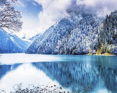 九寨沟迎来入冬第一场雪