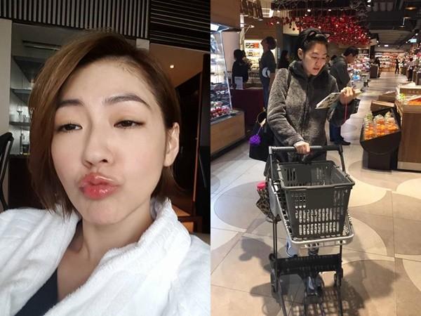 """小S素颜逛超市 蹲地上玩手机被赞""""自然"""""""