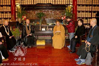 日本临济宗布教师会一行参访少林寺 永信大和尚热情接待