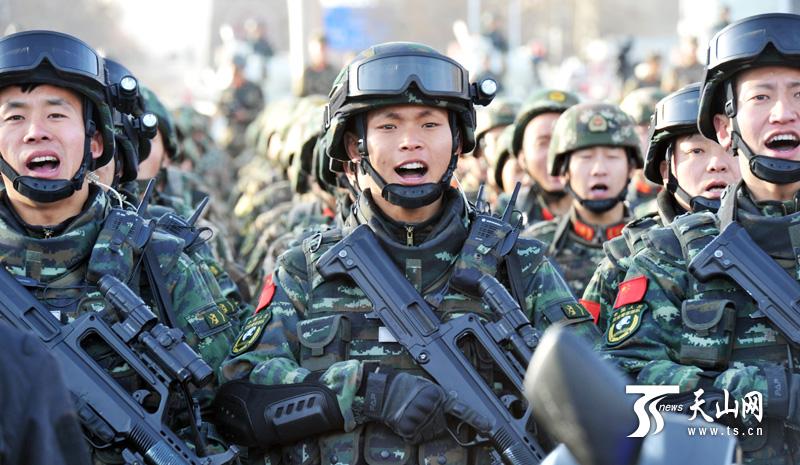 Image result for 新疆街头武装震慑