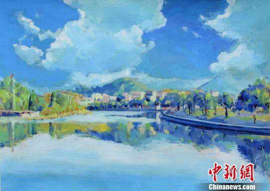 景德镇陶瓷大学学生手绘校园风景办画展 图