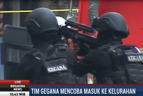 印尼万隆政府大楼发生爆炸 警方与袭击者交火(图)