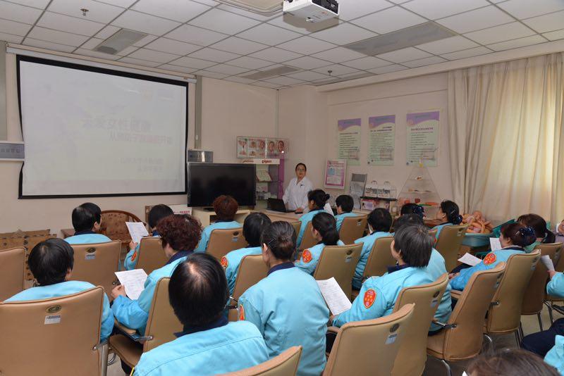 山东大学齐鲁医院妇产科举办 两癌 筛查三八公益活动图片