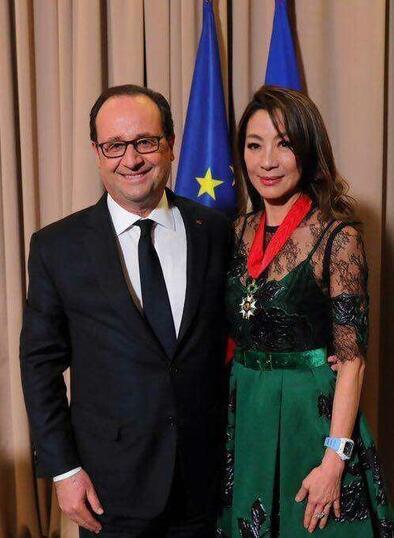 杨紫琼获法国最高荣誉勋衔 总统奥朗德亲自颁发