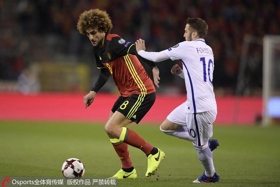 世预赛比利时1-1战平希腊 依旧占据榜首