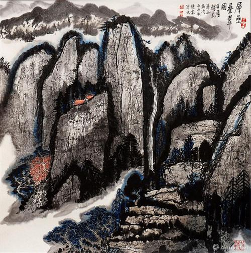 当代书画名家——盛杰远山水画作品鉴赏图片