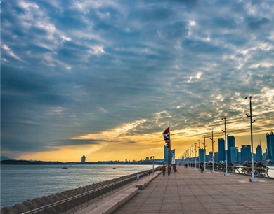 广角镜头里的奥帆中心:从清晨到日暮 美景肆意流转