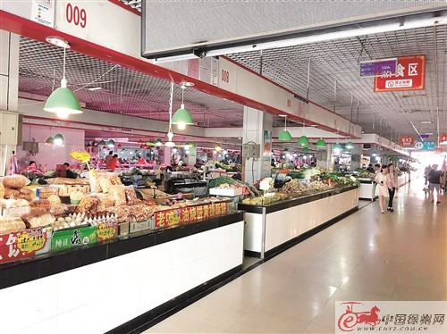 民祥园农贸市场打造文明智慧放心菜市场