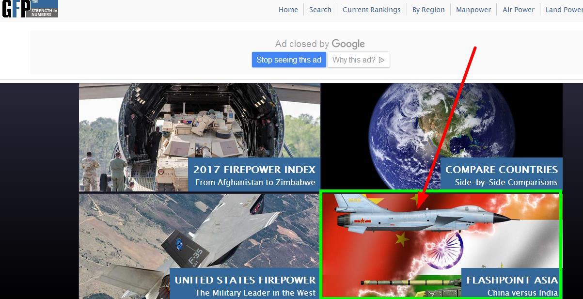 美网站发布中印军力对比图 军报:印度好自为之