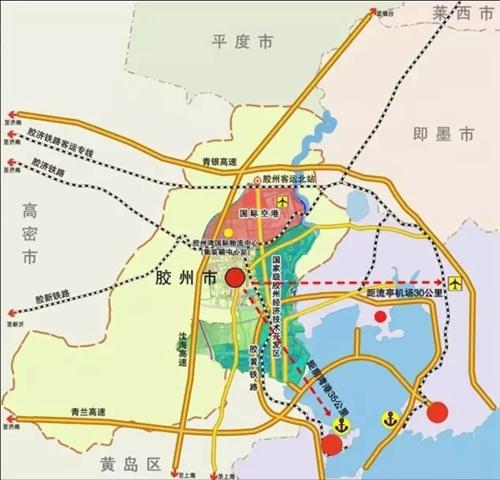 青岛新机场临空经济区规划图