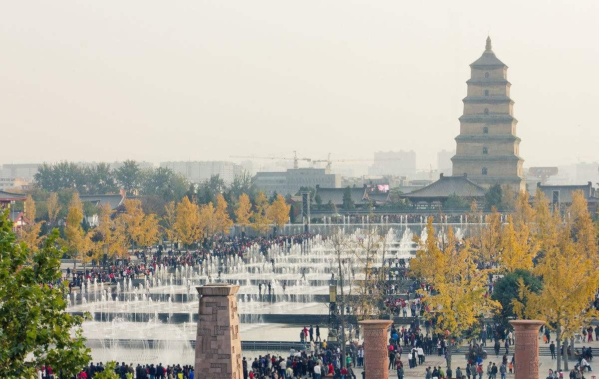 大雁塔广场 第三个要去的则是大兴善寺和大雁塔广场,也是一条线.