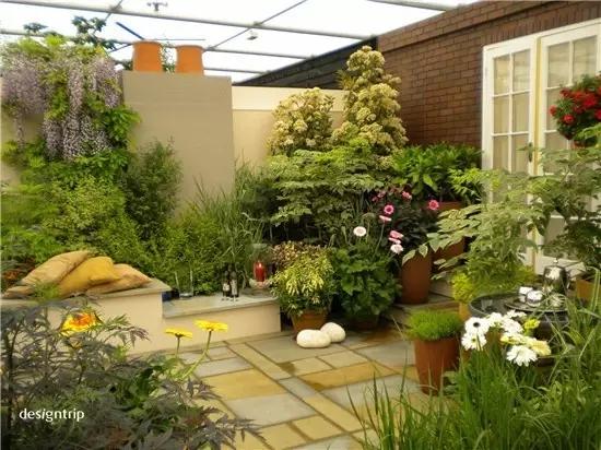 相比与常规的小院,屋顶花园可以沐浴到更加灿烂的阳光广阔的视野,