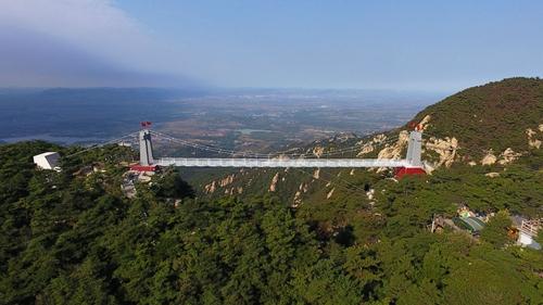 蒙山3d玻璃桥国庆期间正式开放 沂蒙山龟蒙景区给你不