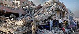 实拍索马里首都汽车爆炸现场!276人遇难状况惨烈