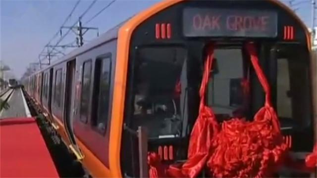 中国地铁首次出口美国