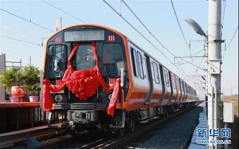 """中车首批为波士顿""""量身定制""""地铁列车下线 12月抵美国"""